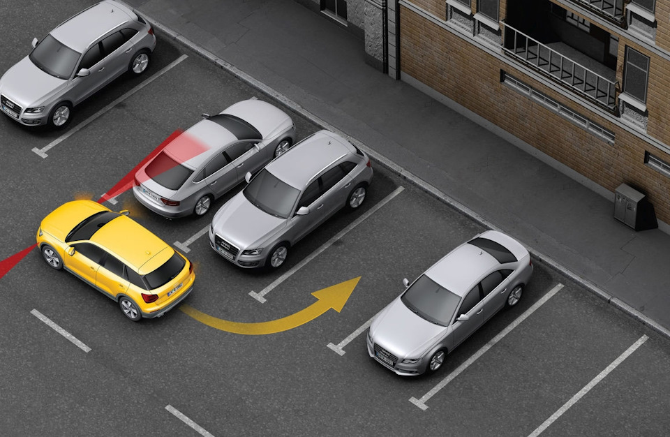 Перпендикулярная парковка на автомобиле
